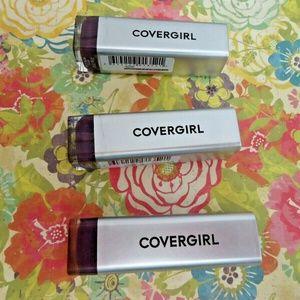 LOT OF 3 Covergirl Exhibitionist Metallic Lipstick